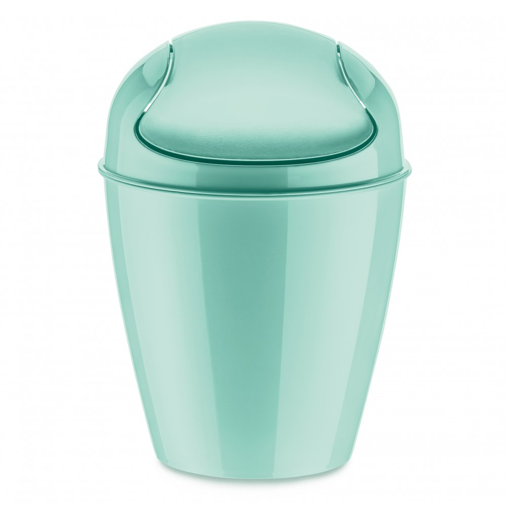 DEL XS Swing-Top Wastebasket 2l spa turqoise