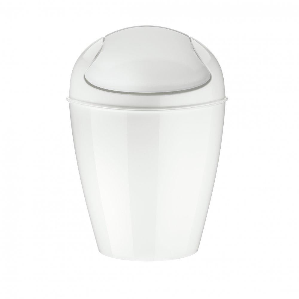 DEL XXS Swing-Top Wastebasket 0,9l cotton white