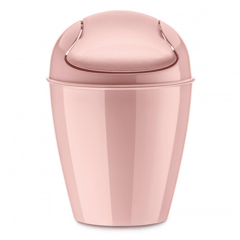 DEL XXS Schwingdeckeleimer 0,9l powder pink