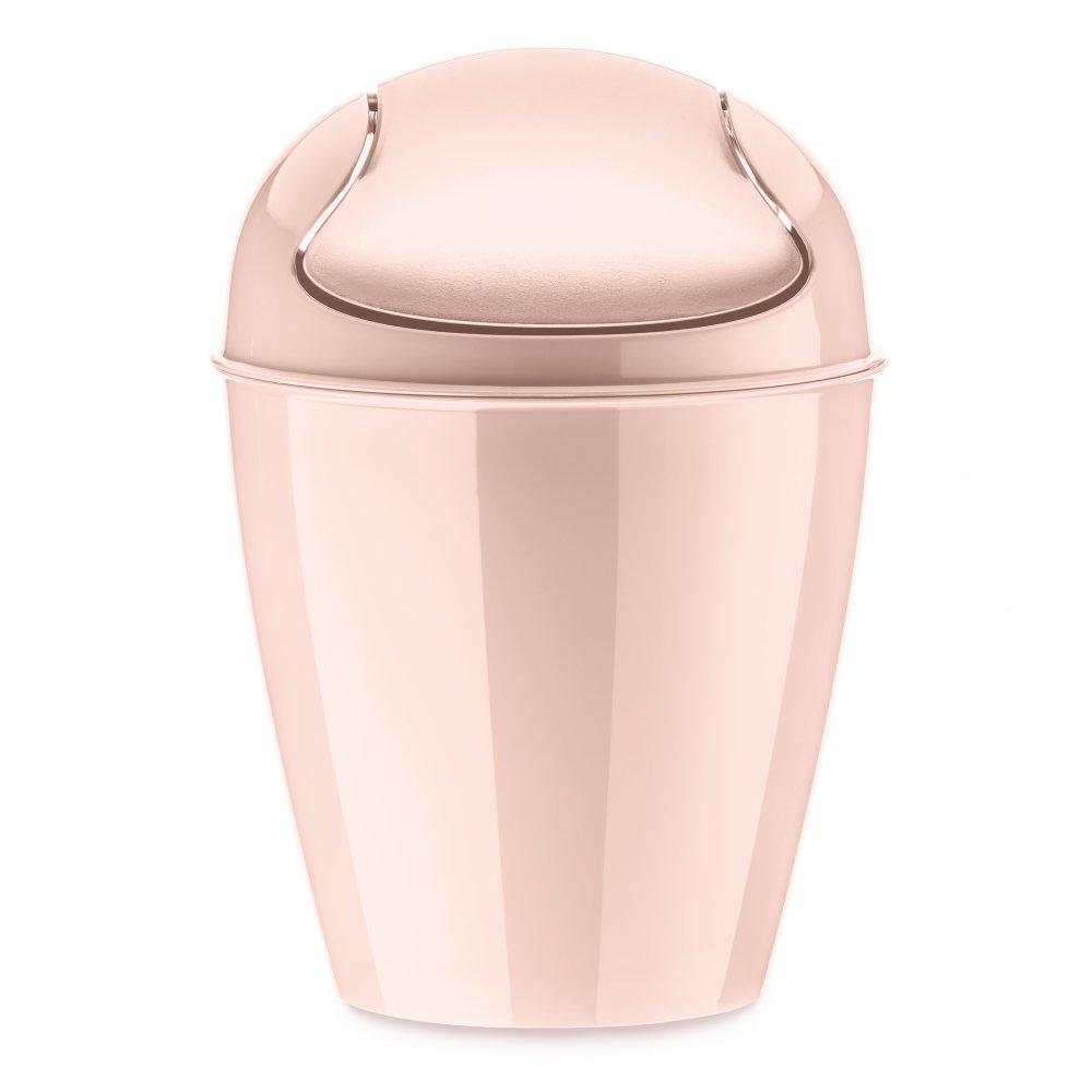 DEL XXS Schwingdeckeleimer 0,9l queen pink