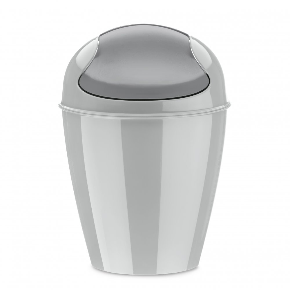 DEL XXS Swing-Top Wastebasket 0,9l soft grey