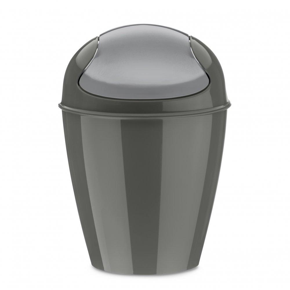 DEL XXS Swing-Top Wastebasket 0,9l deep grey
