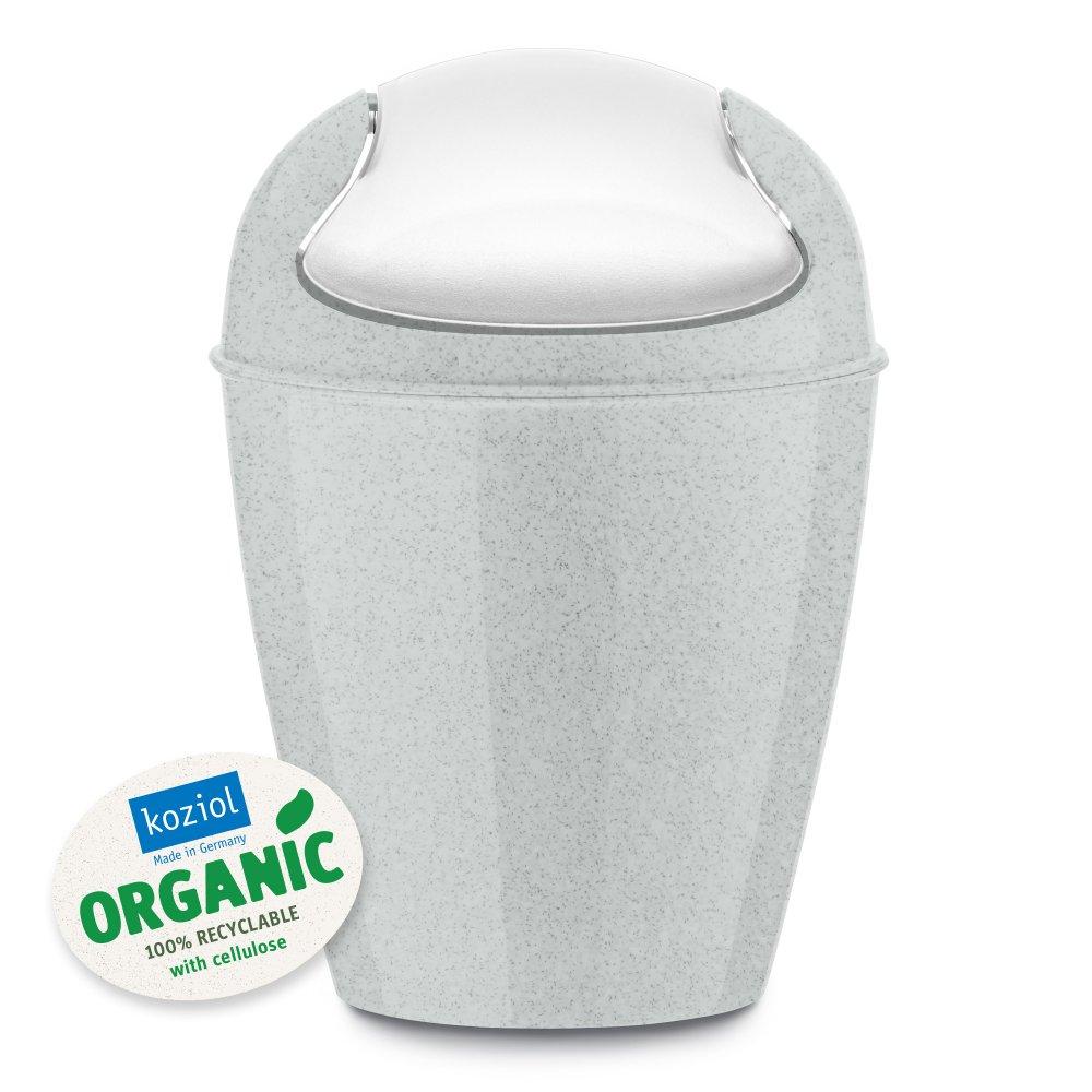 DEL XXS ORGANIC Schwingdeckeleimer 0,9l organic grey