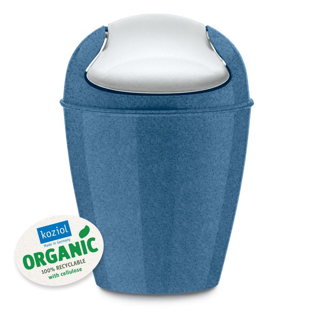 DEL XXS ORGANIC Swing-Top Wastebasket 0,9l organic deep blue