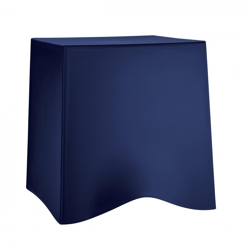 BRIQ Hocker deep velvet blue