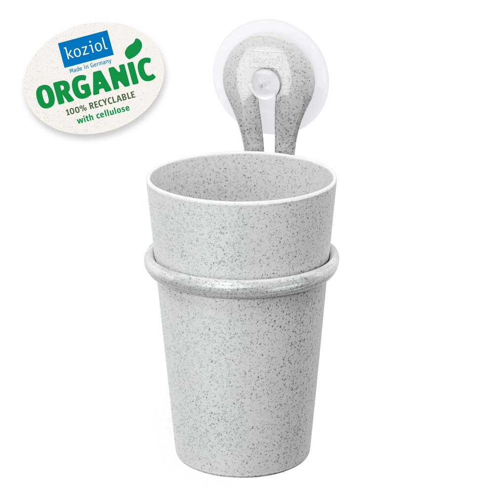 LOOP ORGANIC Zahnputzbecher-Halter 300ml organic grey