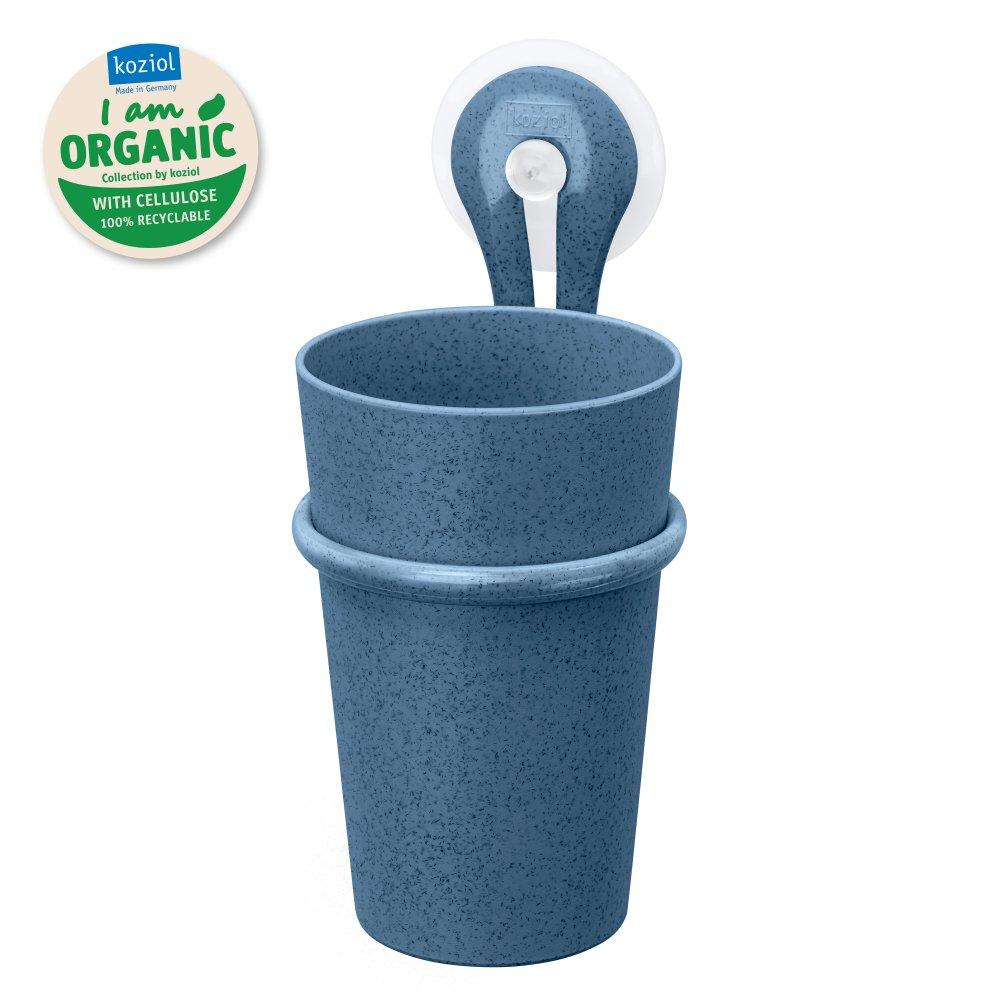 LOOP ORGANIC Zahnputzbecher-Halter 300ml organic deep blue