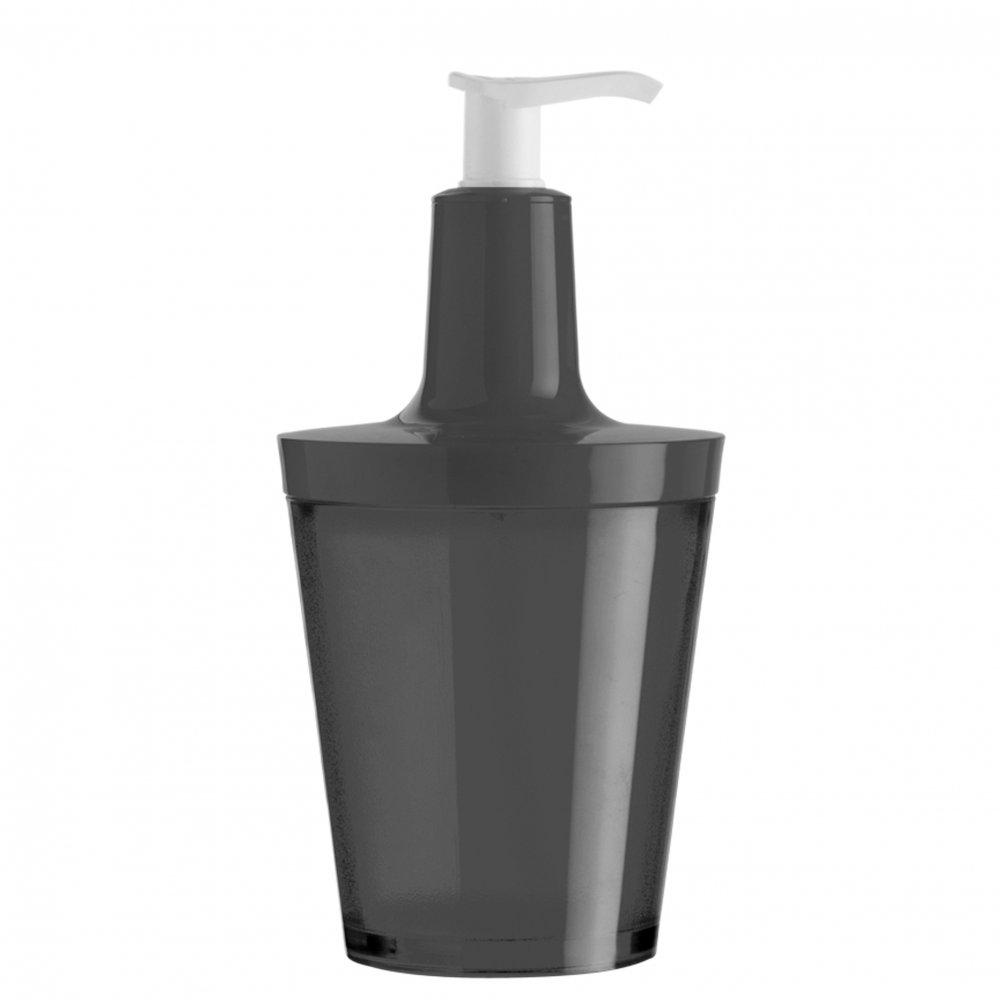 FLOW Soap Dispenser 250ml transparent  grey/cosmos black