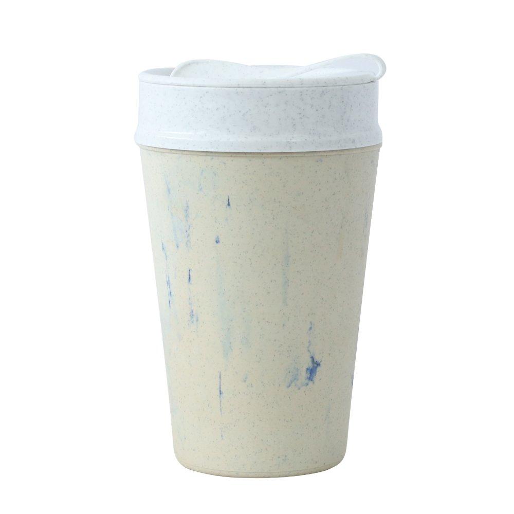 ISO TO GO doppelwandiger Becher mit Deckel 400ml blueberry swirl