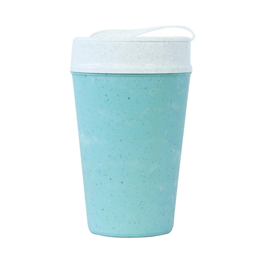 ISO TO GO doppelwandiger Becher mit Deckel 400ml frosty blue