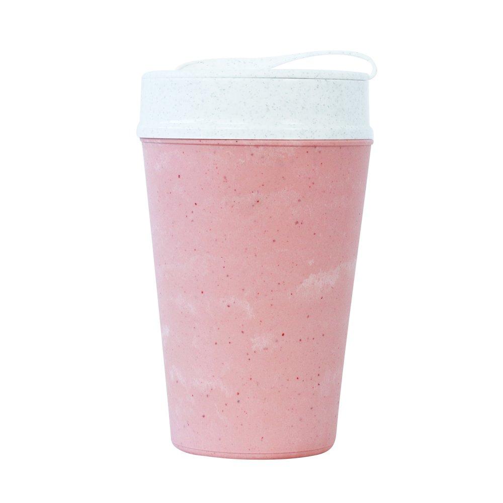 ISO TO GO doppelwandiger Becher mit Deckel 400ml strawberry icecream