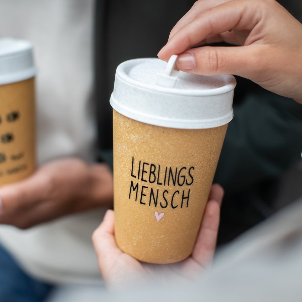 ISO TO GO LIEBLINGSMENSCH Double walled Cup with lid 400ml