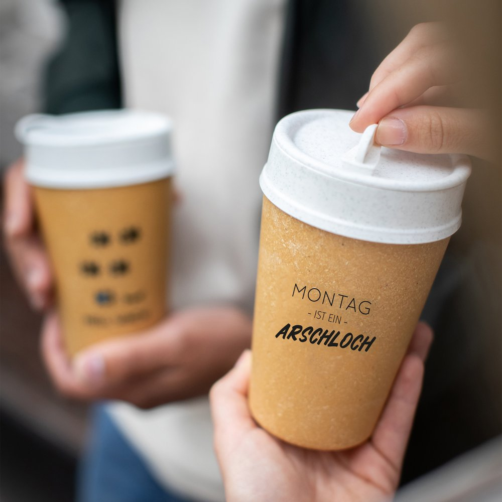 ISO TO GO MONTAG IST… Double walled Cup with lid 400ml