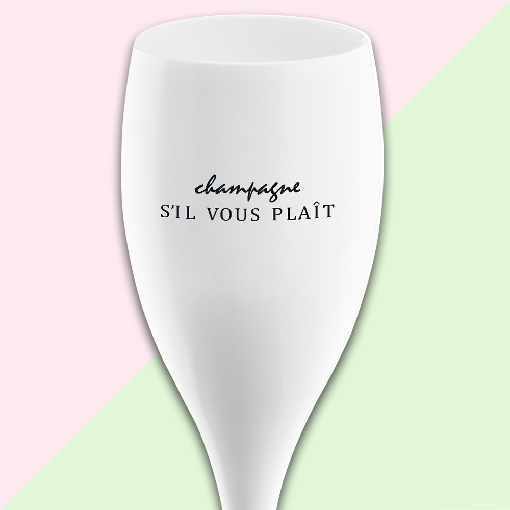 CHEERS NO. 1 CHAMPAGNER SIL VOUS PLAIT Superglas 100ml with print