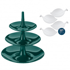 BABELL L + LEAF-ON Set emerald green + cotton white
