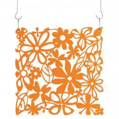 ALICE Room divider Ornament Set of 4 transparent tangerine