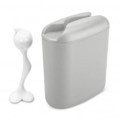 HOT STUFF L Storage Container 500g soft grey-cotton white