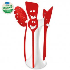 MEETING POINT Küchentoolständer Set organic red