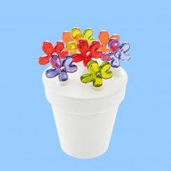 APRIL Party-Piekser Set mit Blumentopf