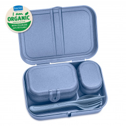 PASCAL READY ORGANIC Lunchbox-Set + Besteck-Set