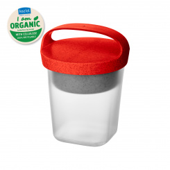 BUDDY 0,5 Snackpot mit Einsatz und Deckel 500ml organic red-organic white/transparent clear