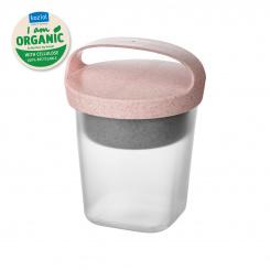 BUDDY 0,5 Snackpot mit Einsatz und Deckel 500ml organic pink-organic white/transparent clear
