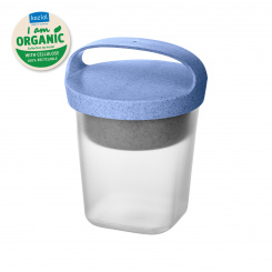 BUDDY 0,5 Snackpot with insert and lid 500ml organic blue