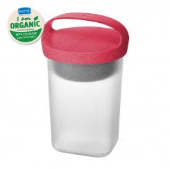 BUDDY 0,7 Snackpot mit Einsatz und Deckel 700ml organic coral-organic white/tr. clear