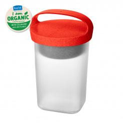 BUDDY 0,7 Snackpot mit Einsatz und Deckel 700ml organic red-organic white/transparent clear