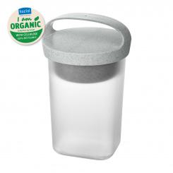 BUDDY 0,7 Snackpot mit Einsatz und Deckel 700ml organic grey-organic white/transparent clear