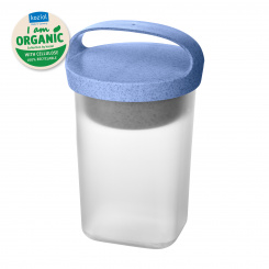 BUDDY 0,7 Snackpot with insert and lid 700ml organic blue