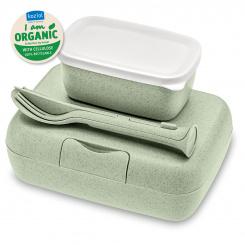 CANDY READY Organic Lunch Box-Set + Cutlery-Set organic green