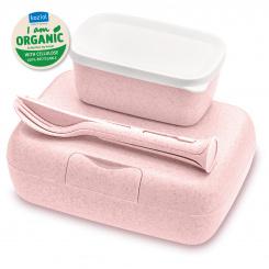 CANDY READY Organic Lunchbox-Set + Besteck-Set organic pink