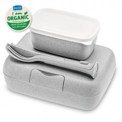 CANDY READY Organic Lunchbox-Set + Besteck-Set organic grey