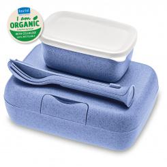 CANDY READY Organic Lunch Box-Set + Cutlery-Set organic blue