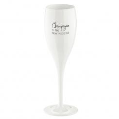 CHEERS NO. 1 CHAMPAGNE THE NEW MEDICINE Superglas 100ml mit Druck cotton white