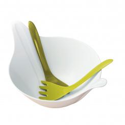 LEAF 2.0 Salatschale mit Besteck 4l
