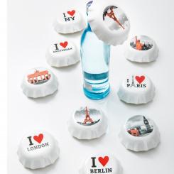 PLOPP I LOVE PARIS Flaschenöffner mit Druck