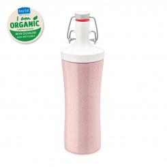 PLOPP TO GO ORGANIC Trinkflasche 425ml organic pink-cotton white