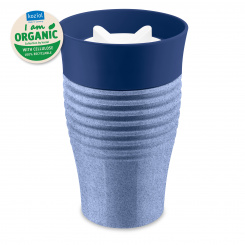 SAFE TO GO ORGANIC Insulated Cup 400ml organic blue