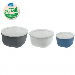 CONNECT ORGANIC Box with lid, Set of 3