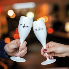 CHEERS NO. 1 LOVE Superglas Set of 2 with print