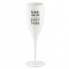 CHEERS NO. 1 YOU ARE MY EVERY THING Superglas 100ml mit Druck cotton white