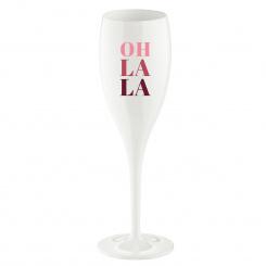 CHEERS NO. 1 OH LA LA Superglas 100ml with print cotton white