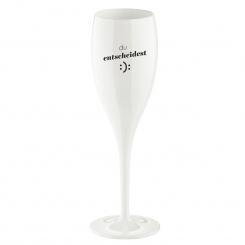 CHEERS NO. 1 DU ENTSCHEIDEST Superglas 100ml with print cotton white