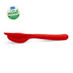 KLIKK Besteck-Set 3-teilig organic red