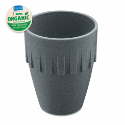 CONNECT ORGANIC Cappuccino Cup 300ml organic deep grey