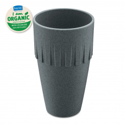CONNECT COFFEE Becher Latte 400ml organic deep grey