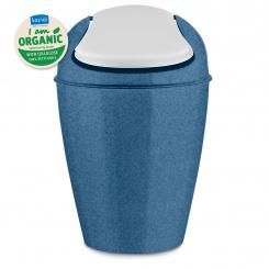 DEL S ORGANIC Swing-Top Wastebasket 5l organic deep blue