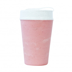 ISO TO GO Double walled Cup with lid 400ml strawberry icecream